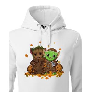 Dámská mikina Mistr Yoda a Groot - ideálna pre každú fanúšičku