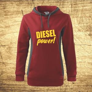 Dámska mikina s motívom Diesel power!