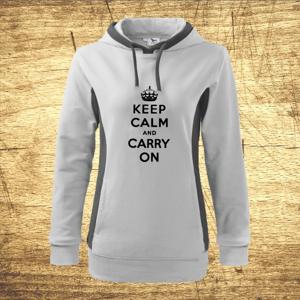Dámska mikina s motívom Keep calm and carry on.