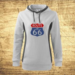 Dámska mikina s motívom Route 66