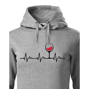 Dámska mikina s vtipným motívom vína - Ekg víno