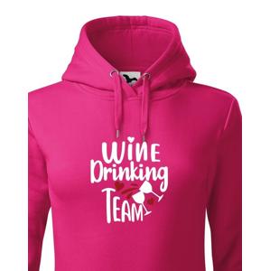 Dámská mikina Wine Drinking team - mikina pre pravé kamošky