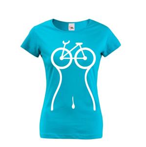 Dámske cyklistické tričko Cyklo silueta