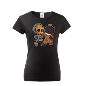 Dámske tričko Batman a Groot - ideálný darček