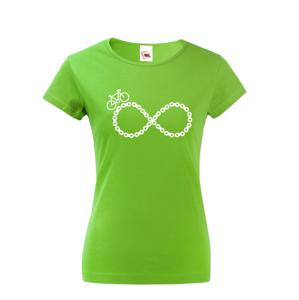 Dámske tričko Cyklistické nekonečno - ideálne tričko pre cyklistky