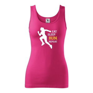 Dámske tričko EAT SLEEP RUN REPEAT- ideálny darček pre bežkyne