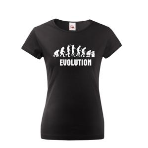 Dámské  tričko Evoluce IT - ideální dárek pro všechny Ajťáky