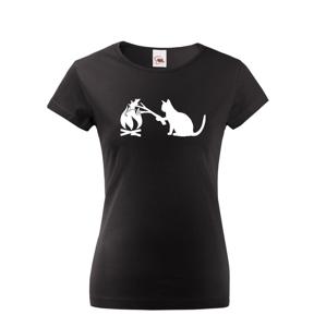 Dámske tričko mačka a myš - tričko pre milovníkov mačiek
