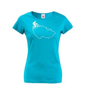 Dámské tričko pre cyklistov s mapou Čr
