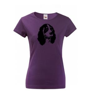 Dámske tričko pre psíčkarov alebo poľovníkov s motívom Kokeršpaniela