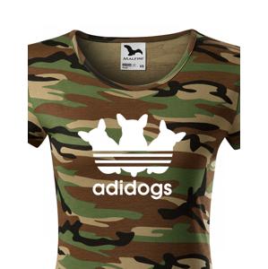 Dámske tričko pre psíkarky s motívom Adidogs