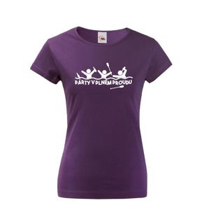 Dámske tričko pre vodáčky Párty v plnom prúde - ideálne tričko na loď
