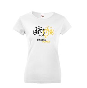 Dámske tričko pro cyklisty Bicycle Power - ideální dárek pro každého cyklo nadšence