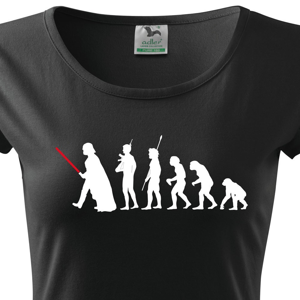 Dámske tričko s filmovým motívom evolúcia Star Wars