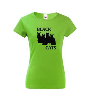 Dámske tričko s mačkami Black Cats