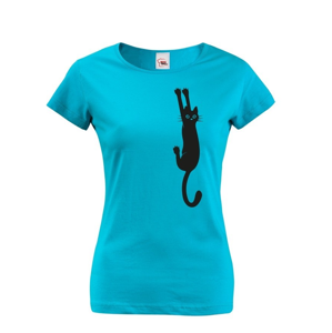 Dámske tričko s mačkou- ideálny darček pre milovníkov mačiek