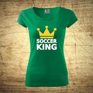 Dámske  tričko s motívom Soccer king