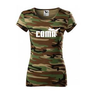 ★ Dámské tričko s oblíbeným motivem Coma - vtipná parodie na značku Puma