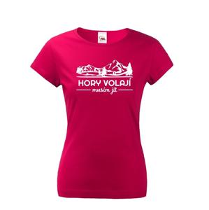 Dámske turistické tričko Hory volajú, musím ísť