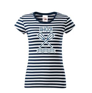 Dámske vodácke tričko Ahoj! - s dotlačou mena, tímu alebo čísla