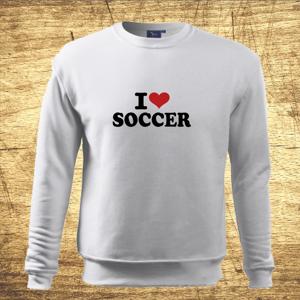 Detská mikina s motívom I love soccer