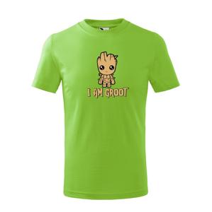 Detské tričko Groot z filmu Strážcovia galaxie - Ja som Groot na tričku