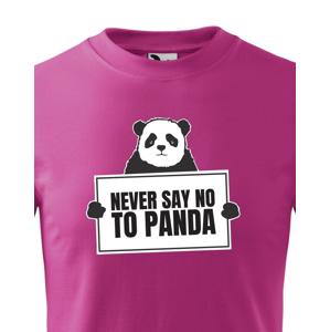 Detské tričko Never say no to Panda - ideálny darček k Vianociam