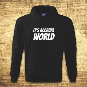 Mikina s kapucňou s motívom It´s accrual world
