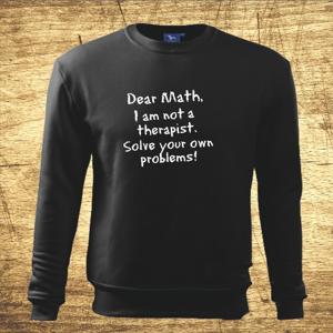 Mikina s motívom Dear math