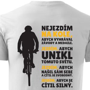 Originálne pánske cyklo tričko Hymna cyklistov