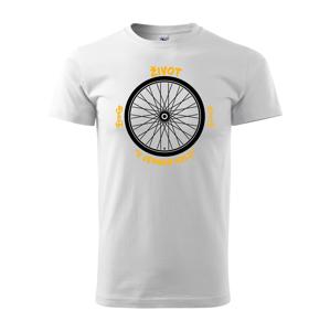 Originální pánské tričko pro cyklistu Život v jednom kole