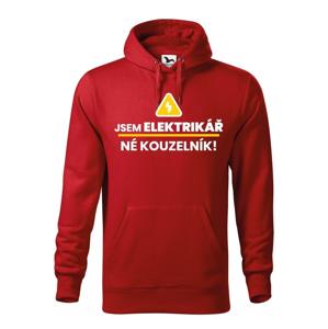 Pánska mikina - Som elektrikár,  nie kúzelník - ideálny darček k narodeninám