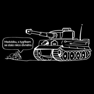 Pánske military tričko s potlačou nemeckého ťažkého tanku Tiger