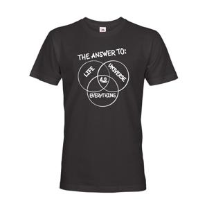 Pánske tričko Answer is 42 - tričko z románu Stopárov sprievodca po galaxii