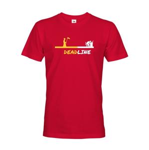 Pánske tričko Deadline - tričko pre grafikov a IT
