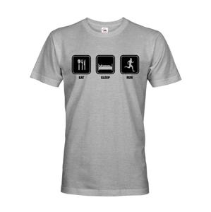 Pánske tričko EAT SLEEP RUN - ideálny darček pre bežcov