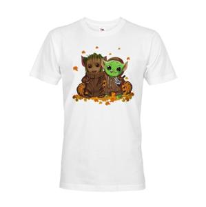 Pánské tričko Majster Yoda a Groot - ideálne pre každého fanúšika