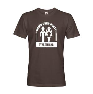 Pánske tričko na rozlúčkovú párty Game over - ideálne na rozlúčenie so slobodou