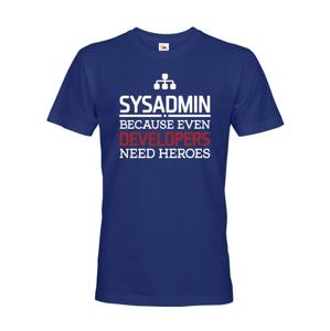 Pánske tričko pre administrátorov, správcov siete - dokonalý darček