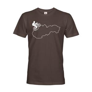 Pánske tričko pre cyklistov s mapou Sr