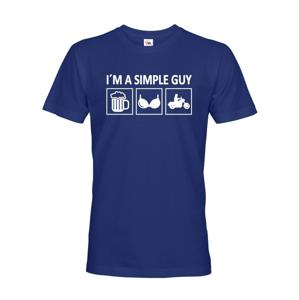 Pánske tričko pre motorkára Iam a Simple Guy