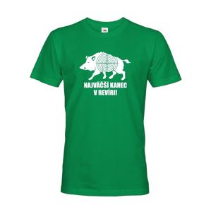 Pánske tričko pre poľovníkov  Najväčší kanec v revíre