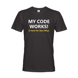 Pánske tričko pre programátorov My Code Works