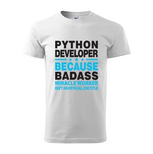 Pánske tričko pre programátorov Python developer