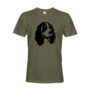 Pánske tričko pre psíčkarov alebo poľovníkov s motívom kokeršpaniela