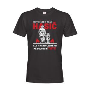 Pánske tričko pre tata hasiča - ideálny darček pre novopečeného otecka