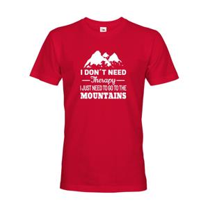 Pánske tričko pre turistov a cestovateľov  s potlačou hory