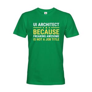 Pánske tričko pre UI architektov - dokonalý darček pre IT špecialistov