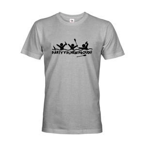 Pánske tričko pre vodákov Párty v plnom prúde - ideálne tričko na loď