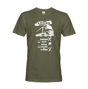 Pánske tričko pre vodiča kamiónu / kamioňáky - Kamión to je moje